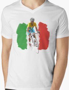 Maillot Jaune , Italy Flag Mens V-Neck T-Shirt