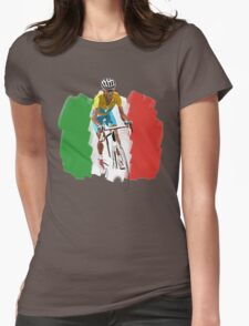 Maillot Jaune , Italy Flag Womens Fitted T-Shirt