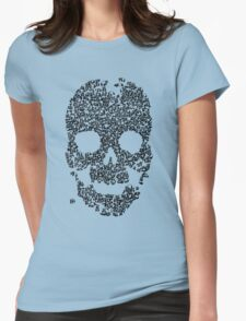 Panda Skull - Blue Womens Fitted T-Shirt