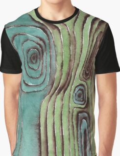 Watercolour wooden surface Graphic T-Shirt