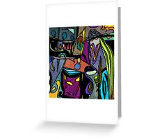 Funky Colorful Abstract Greeting Card