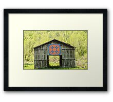 Kentucky Barn Quilt - Happy Hunting Ground Framed Print