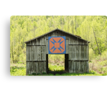 Kentucky Barn Quilt - Happy Hunting Ground Canvas Print
