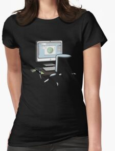 Robots Save The World Womens Fitted T-Shirt