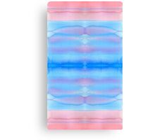 Hand-Painted Watercolor Blue Pink Ombre Gradation Canvas Print