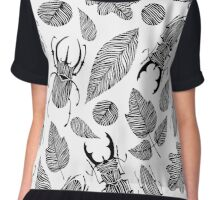 Beetles and leaves. Chiffon Top