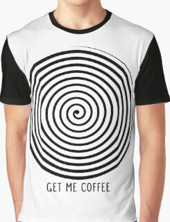 """""""Get me coffee"""" hypno wheel Graphic T-Shirt"""