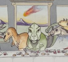 Dinosaur Last Supper Sticker