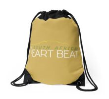 Heart Beat - Yellow Drawstring Bag