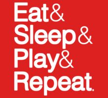 EJ n IZ Eat Sleep Play Repeat Kids Tee