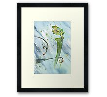 Madagascan Tree Frog on Pitcher Plant With Raindrops Framed Print