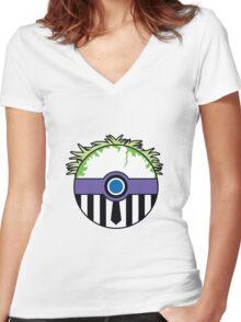 Beetlejuice Pokemon Ball Mash-up Women's Fitted V-Neck T-Shirt
