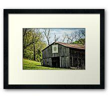 Kentucky Barn Quilt - Mariners Compass Framed Print