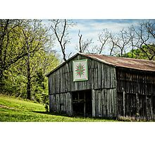 Kentucky Barn Quilt - Mariners Compass Photographic Print