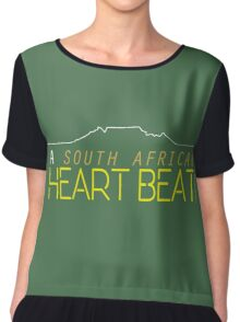 Heartbeat - Green and Gold  Chiffon Top