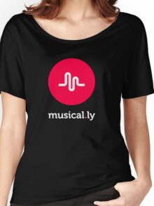 music logo tshirt, musical.ly Women's Relaxed Fit T-Shirt
