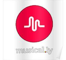 music logo tshirt, musical.ly Poster