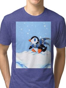 Snowy Day Tri-blend T-Shirt
