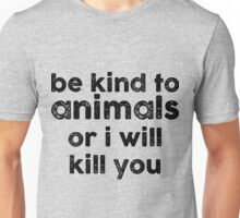 Be Kind o Animals Unisex T-Shirt