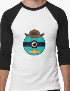 Perry the Platypus Pokemon Ball Mash-up Men's Baseball ¾ T-Shirt