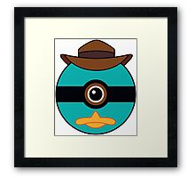 Perry the Platypus Pokemon Ball Mash-up Framed Print
