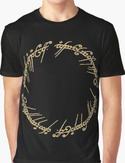 LOTR-Ring Inscription Graphic T-Shirt