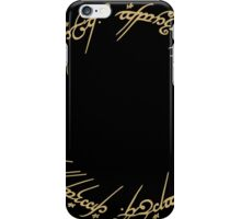 LOTR-Ring Inscription iPhone Case/Skin