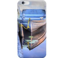 Row Boat Moored at Lonely Lake iPhone Case/Skin