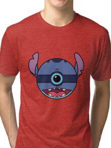 Stitch Pokemon Ball Mash-up Tri-blend T-Shirt