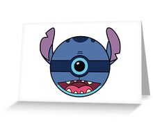 Stitch Pokemon Ball Mash-up Greeting Card
