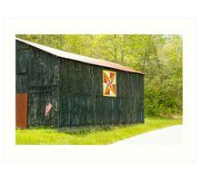 Kentucky Barn Quilt - July Summer Sky Art Print