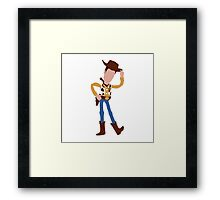 Woody - Toy Story (Light) Framed Print