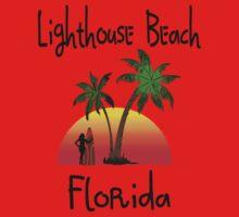 Lighthouse Beach Florida. One Piece - Short Sleeve