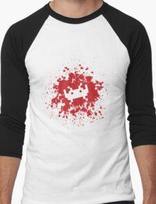 Space Invaders blood splat Men's Baseball ¾ T-Shirt