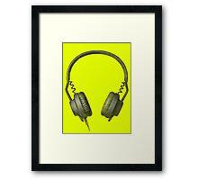 Headphones on acid Framed Print