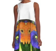 Fab Flowers Flaunting their Fantasticness A-Line Dress