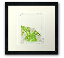 USGS TOPO Map Alaska AK Bradfield canal B-3 354725 1955 63360 Framed Print