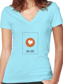 I Love San Jose Women's Fitted V-Neck T-Shirt