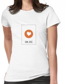 I Love San Jose Womens Fitted T-Shirt