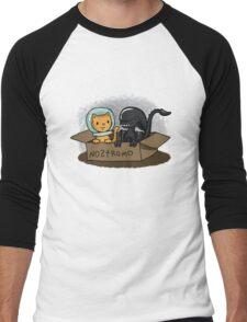 Kitten and Alien Men's Baseball ¾ T-Shirt