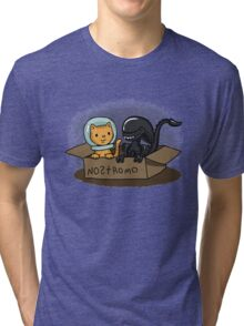 Kitten and Alien Tri-blend T-Shirt