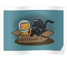 Kitten and Alien Poster