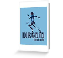 DIEGO10 - MEXICO 1986 WORLD CUP SOCCER Greeting Card