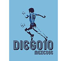DIEGO10 - MEXICO 1986 WORLD CUP SOCCER Photographic Print