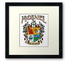 McDaniel family crest / heraldic shield / coat of arms Framed Print