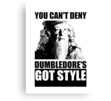 Dumbledore's got style Canvas Print
