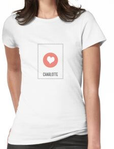 I Love Charlotte Womens Fitted T-Shirt