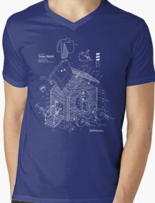 Trojan Rabbit Mens V-Neck T-Shirt