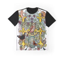 The Illustrated Alphabet Capital H (Fuller Bodied) from THE ILLUSTRATED MAN Graphic T-Shirt