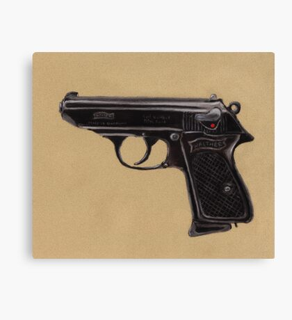 Gun - Pistol - Walther PPK Canvas Print